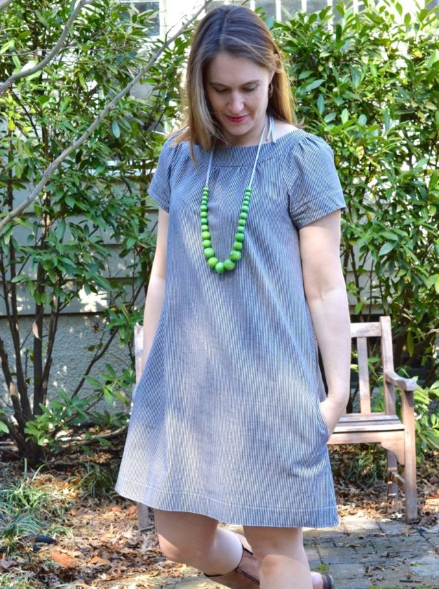 Railroad Strip Sailor Top Dres | a-happy-stitch