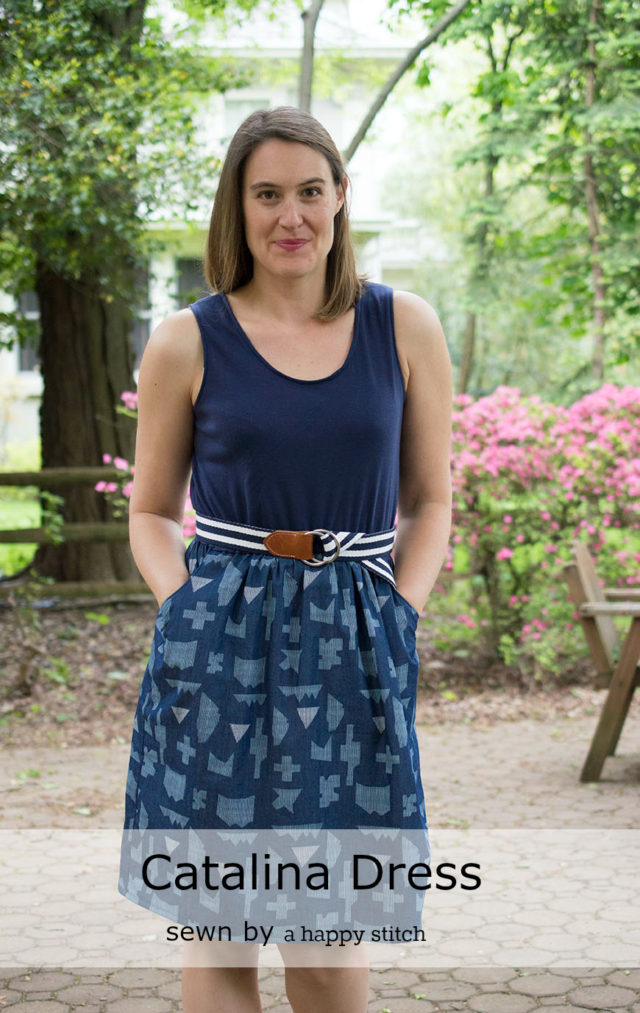 Catalina Dress from Blank Slate sewn by a happy stitch