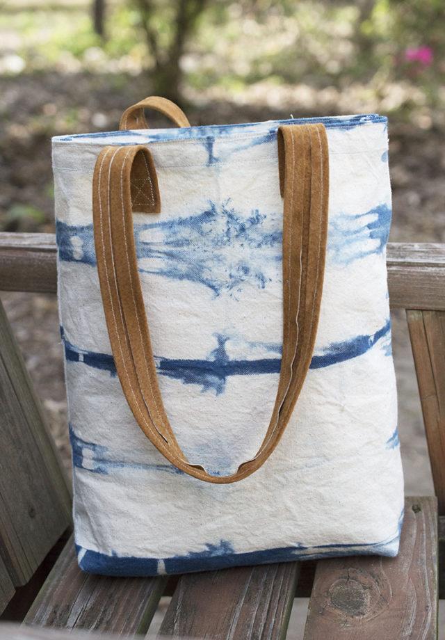 Indigo Dyed Tote | a happy stitch