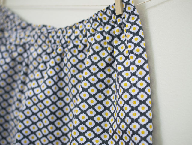 Boxers for Dudes sewn in Dutch treat fabric_sewn by a happy stitch