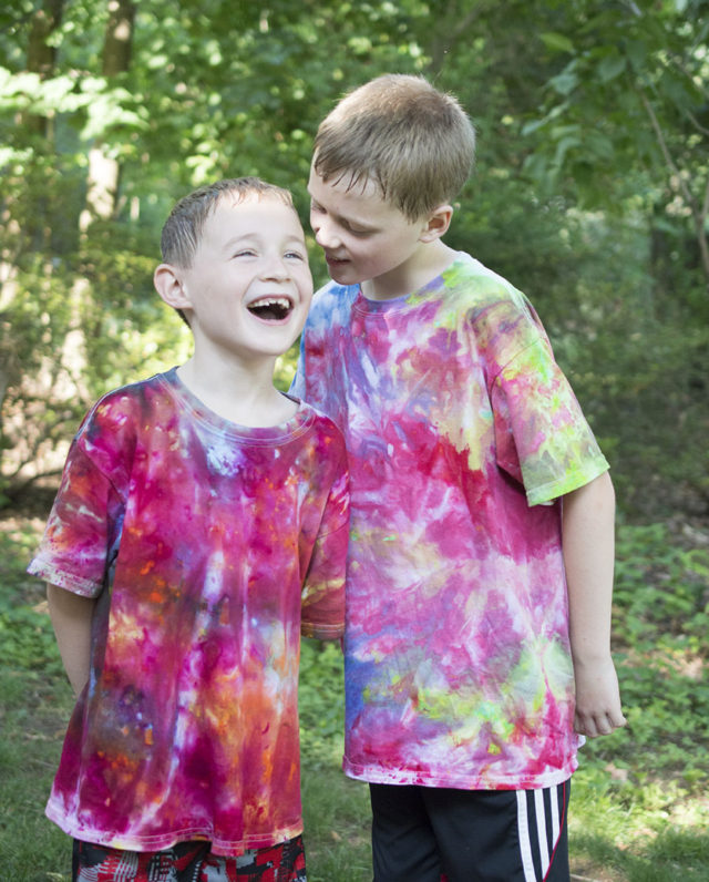Tee Shirts for Boys _Ice Painted | a project by a happy stitch