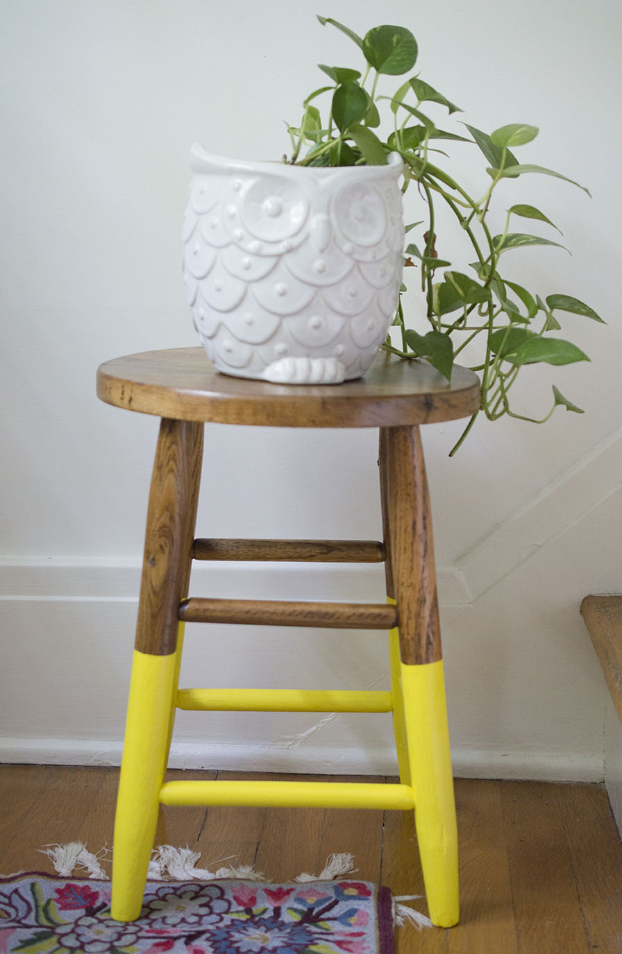 Excellent Yellow Dipped Step Stool Rescue Mission A Happy Stitch Gmtry Best Dining Table And Chair Ideas Images Gmtryco