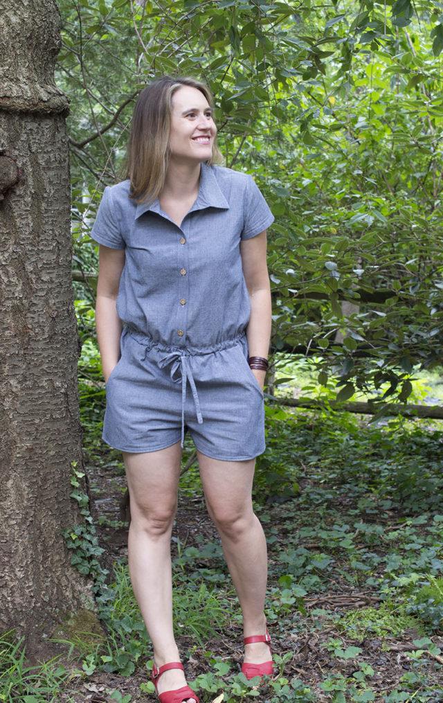 Sanibel Romber in Denim | a happy stitch
