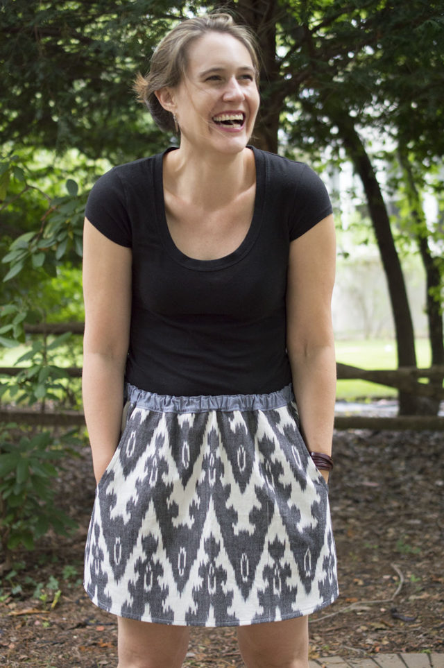 Woven Accidental Skirt | a happy stitch