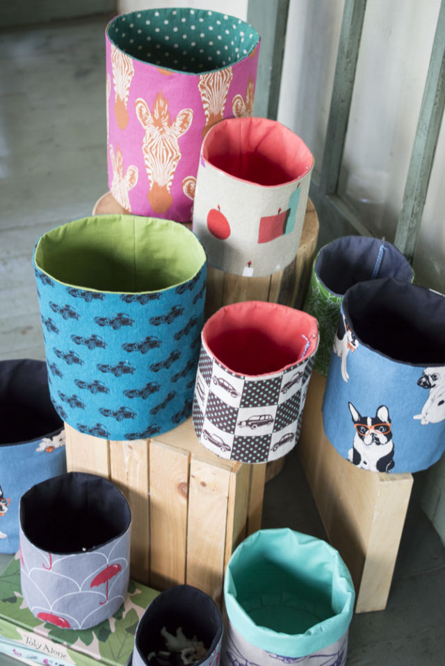 Other Reasons to Sell at a Craft Market! Connections and Creative Fire :: Playful, Linen Fabric Buckets by a happy stitch