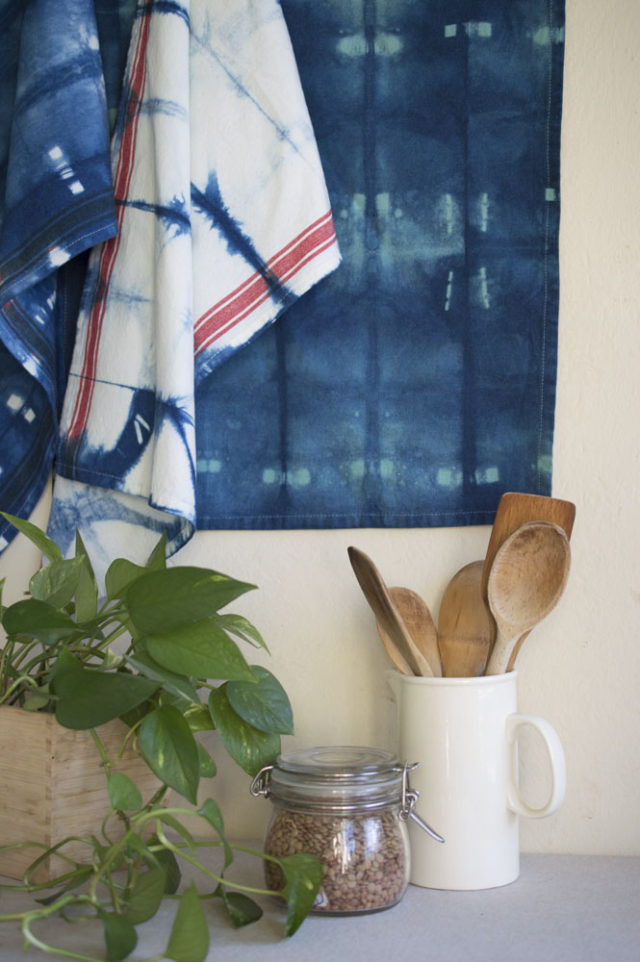 Other Reasons to Sell at a Craft Fair! Indigo Tea Towels-by a happy stitch