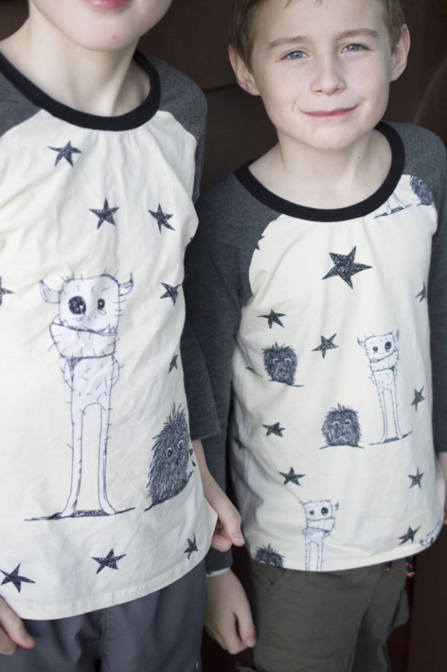 Awkward Monster Pajama Shirts | sewn by A Happy Stitch