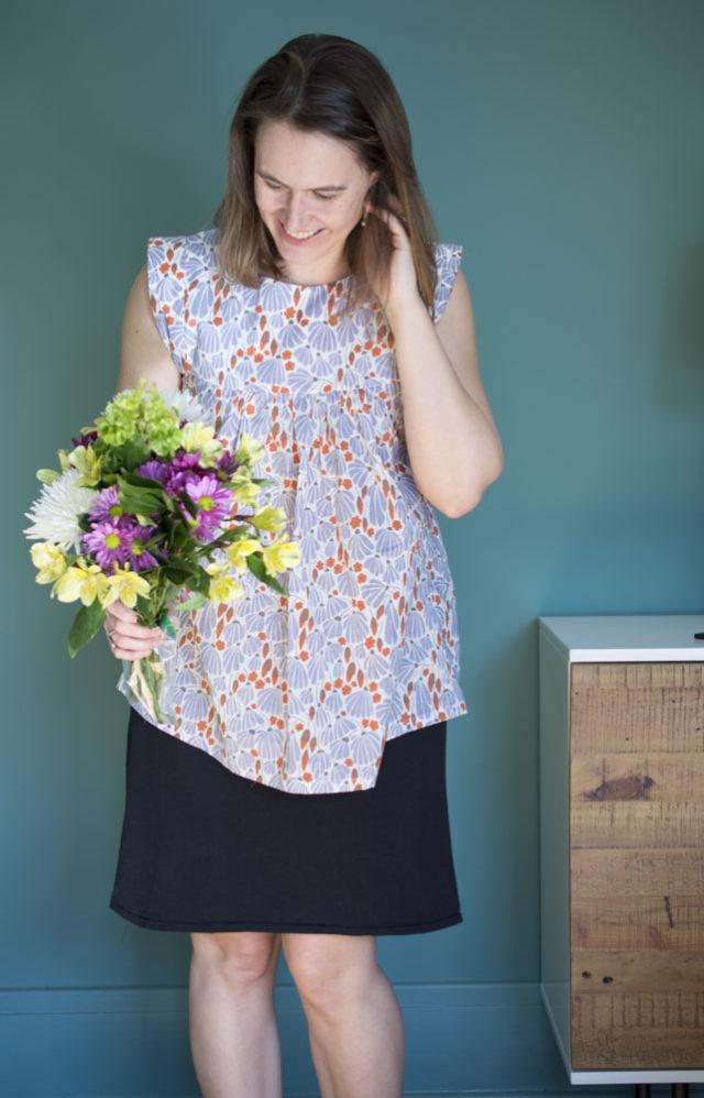 Alice Top in Batiste (Elizabeth Olwen fabric from Cloud 9 fabrics) :: A Happy Stitch