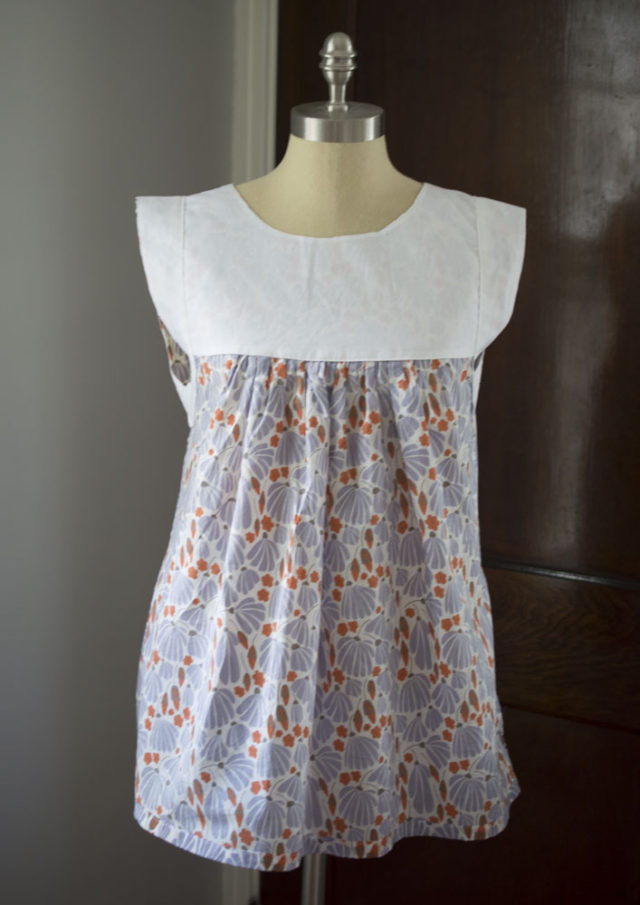 Alice Top in Batiste (the view from inside) :: A Happy Stitch