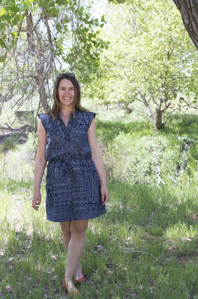 Denim Print Sanibel Dress || Sewn by a happy stitch