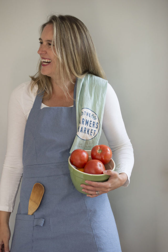 "The ""So Many Tomatoes"" Striped Modern Apron _ sewn by a happy stitch"