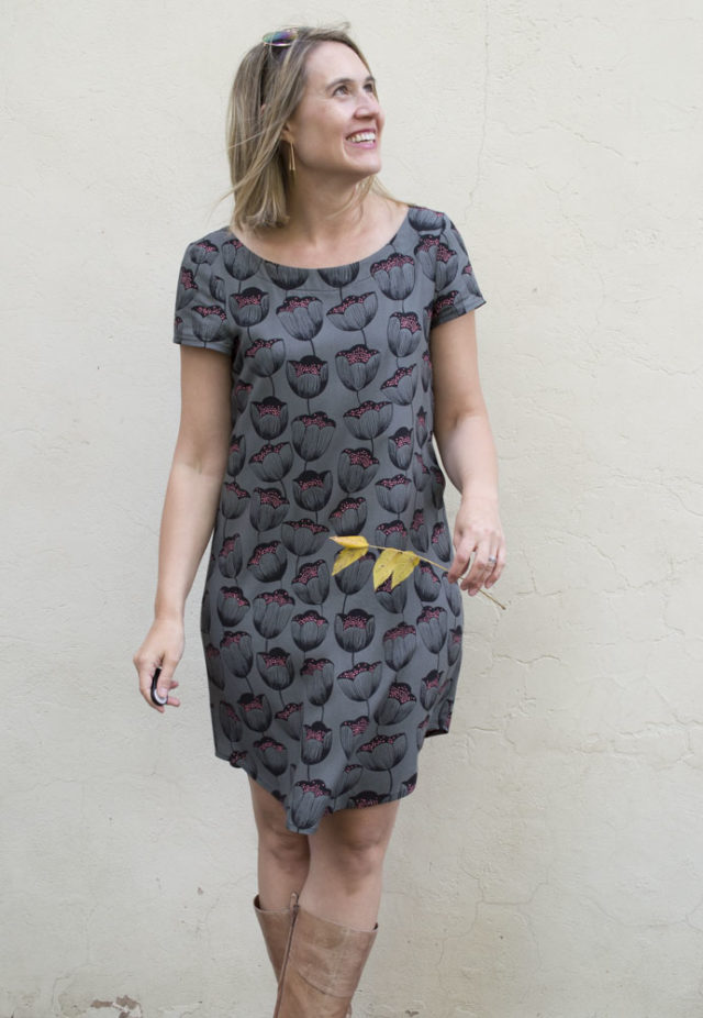 Rayon Cotton and Steel Georgia Dress Hack || sewn by a happy stitch