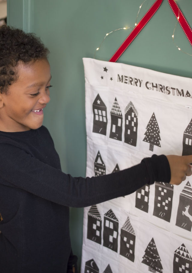 Printable Advent Calendar :: Midnight Village activity advents designed by a happy stitch