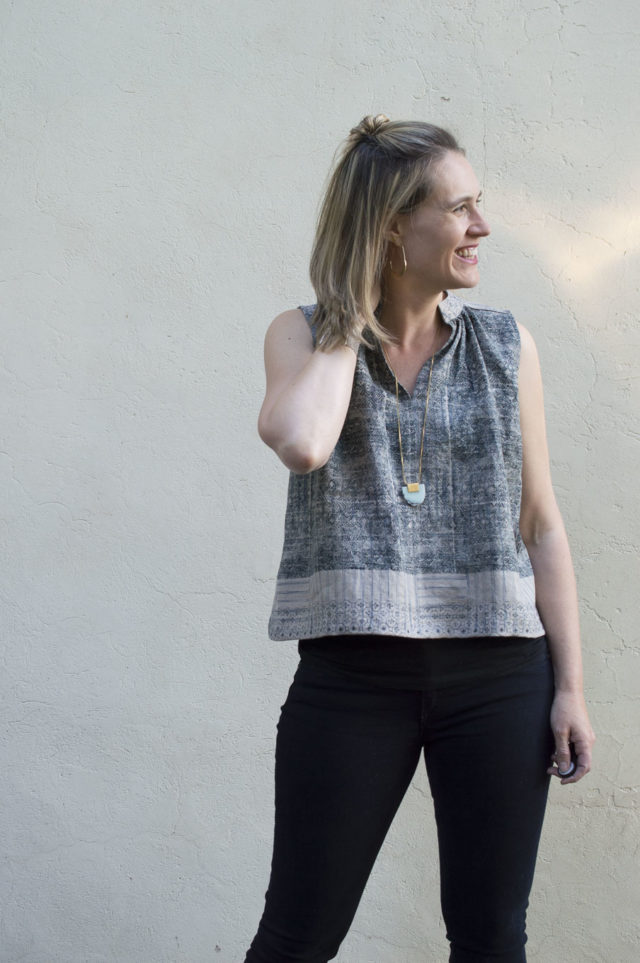 Matcha Tops :: In Linen and Rayon sewn by Melissa Quaal of A HAPPY STITCH || Pattern is from Sew Liberated (sold my Maker Mountain Fabrics)