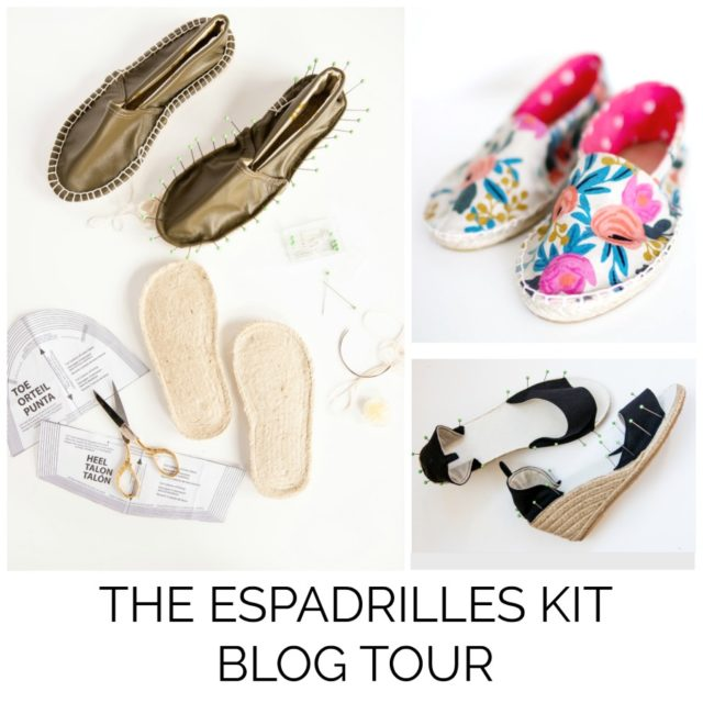THE ESPADRILLES KIT BLOG TOUR - Make your Own Espadrille Shoes