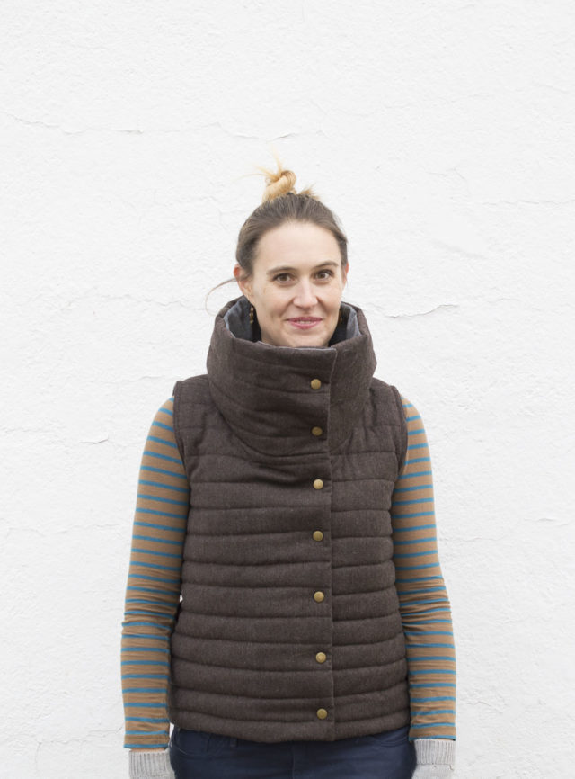 Funnel Neck Vest DIY - Halifax Hoodie pattern hack - A HAPPY STITCH
