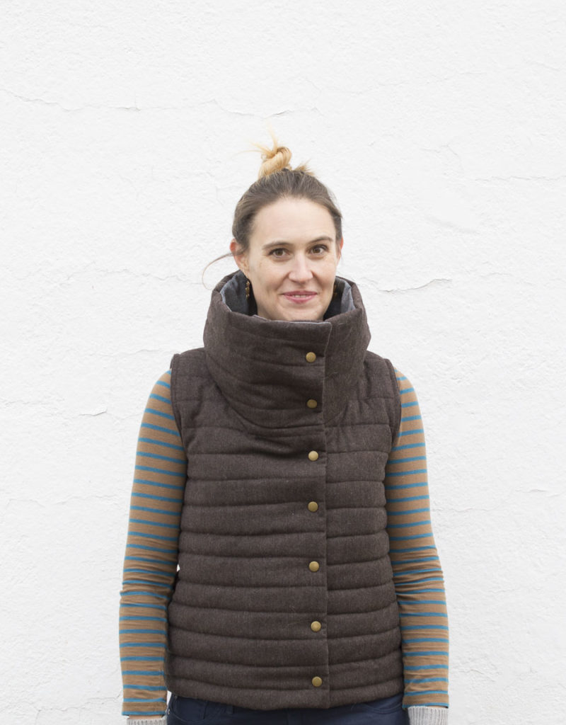 Funnel Neck Vest DIY