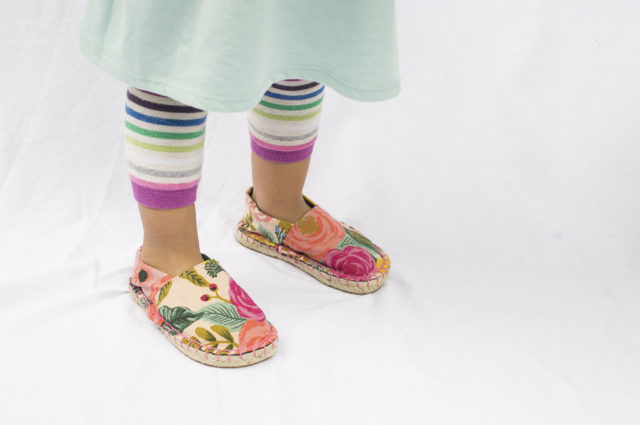 ESPADRILLE Shoes for Kids - The Espadrilles Kit for Kids and Toddlers - Handmade Espadrille Shoes - A HAPPY STITCH