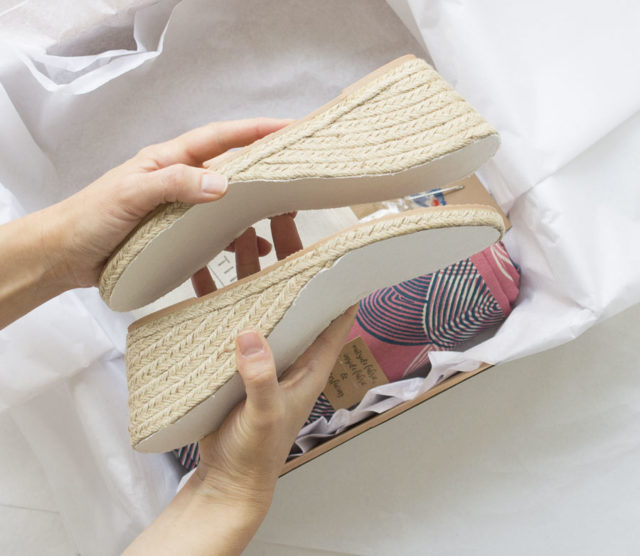 Wedge Espadrille Kits - THE ESPADRILLES KIT - A HAPPY STITCH