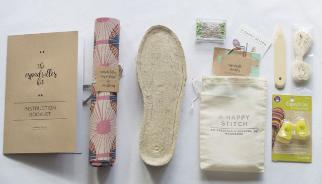 ECO-responsibility & The Espadrilles Kit - A HAPPY STITCH