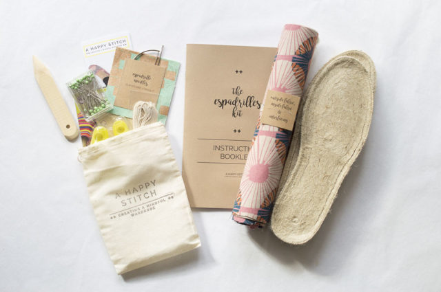 The Espadrilles Kit - A HAPPY STITCH