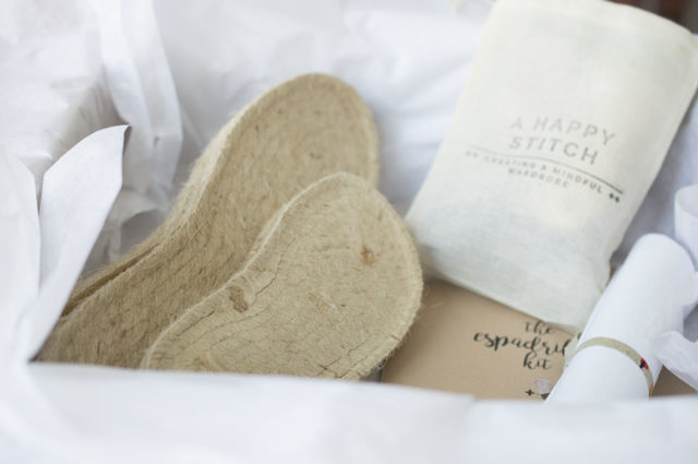 THE ESPADRILLES KIT- DIY kits to create your own espadrilles from A HAPPY STITCH