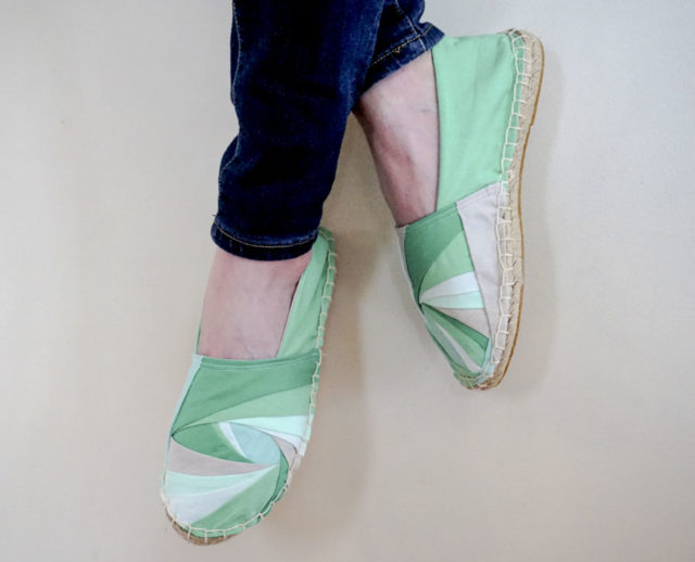 Melanie Tuazon's Quilted Espadrilles - A HAPPY STITCH - The Espadrilles Kit - I Got It Kit