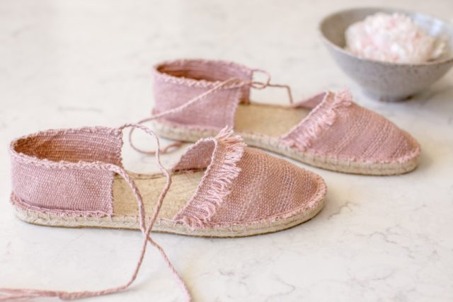 Woven Espadrilles with Anne Weil from Flax and Twine & A HAPPY STITCH