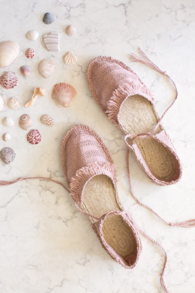 Woven Espadrilles with Anne Weil from Flax and Time & A HAPPY STITCH
