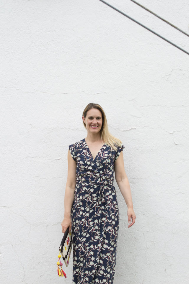 Maxi Length Wrap Dress Vondel - A HAPPY STITCH - pattern by Halfmoon Atelier