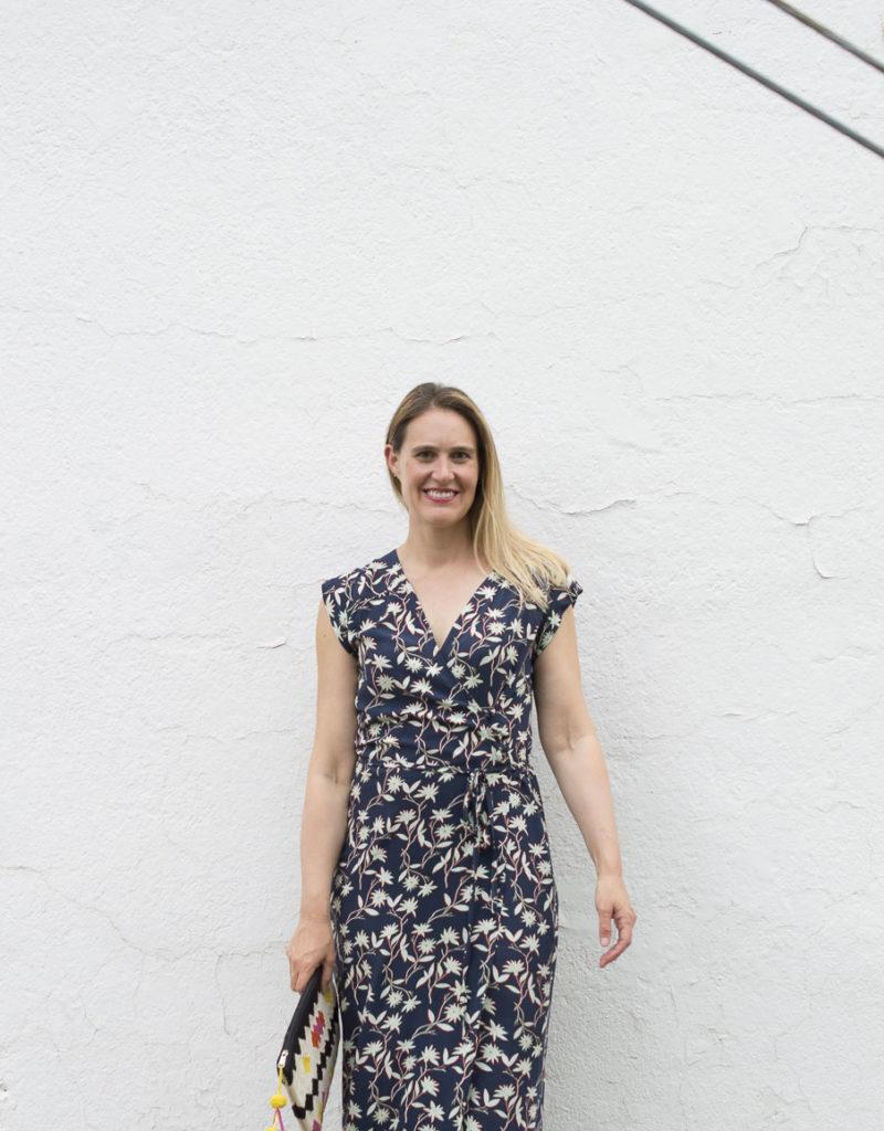 Maxi Length Wrap Dress Vondel