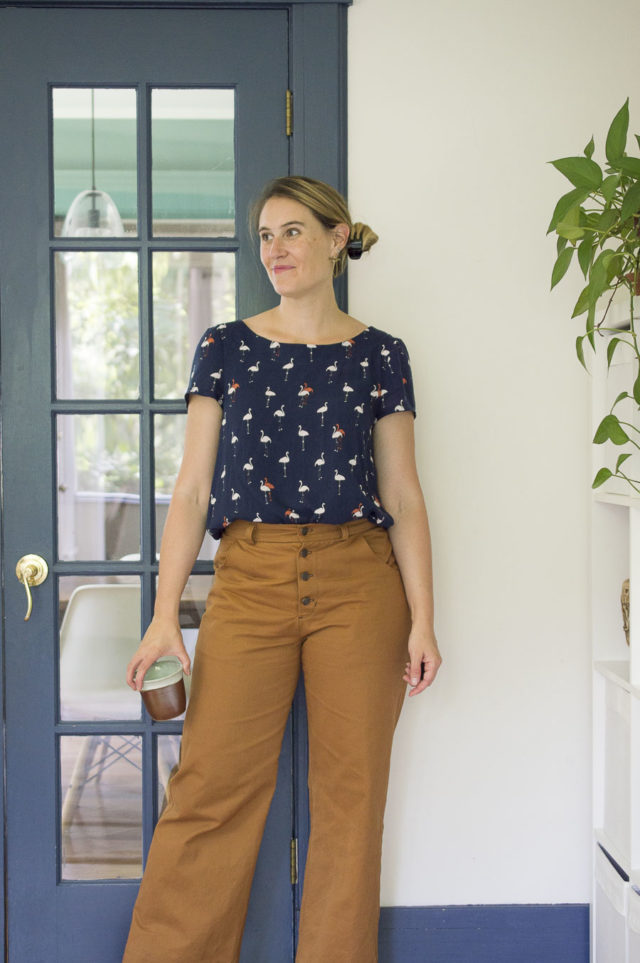 Sienna Lander Pants + Flamingo Georgia Top - A HAPPY STITCH