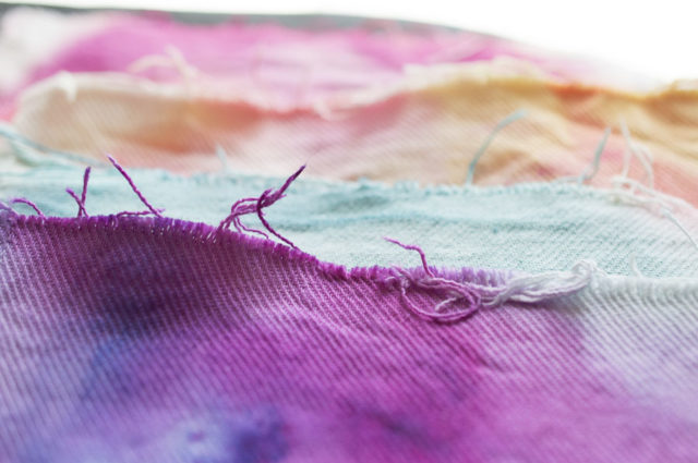 Ice Dyed SWATCHES - from Hand-Dyed by Anna Joyce - A HAPPY STITCH