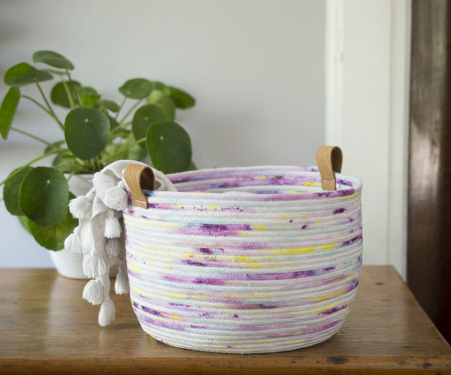 Ice Dyed Rope Bowl - A HAPPY STITCH