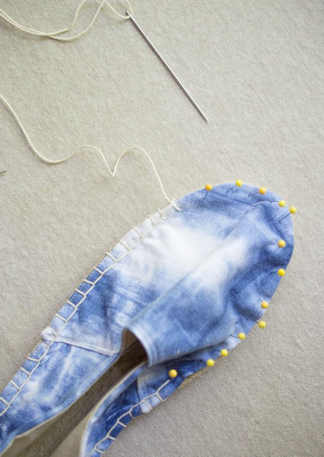 Indigo Dyed Espadrilles _ A HAPPY STITCH and Anna Joyce Designs