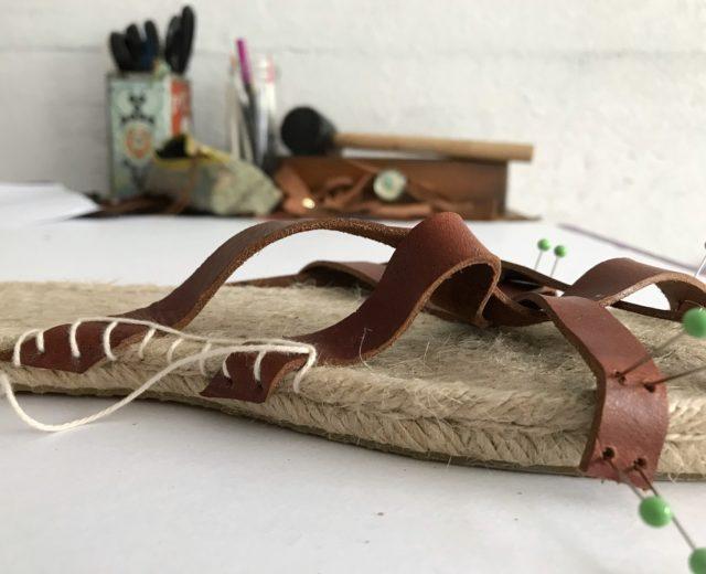 DIY Leather Espadrilles - The Espadrilles Kit - A HAPPY STITCH and Halfmoon Atelier - DIY Shoes
