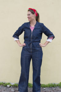 Rosie the Riveter Denim Jumpsuit