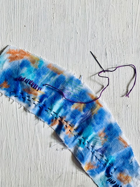 Watercolor and Hand-Stitched Espadrilles from Leilani Pierson of Studio Gypsy_A HAPPY STITCH _ The Espadrilles Kit