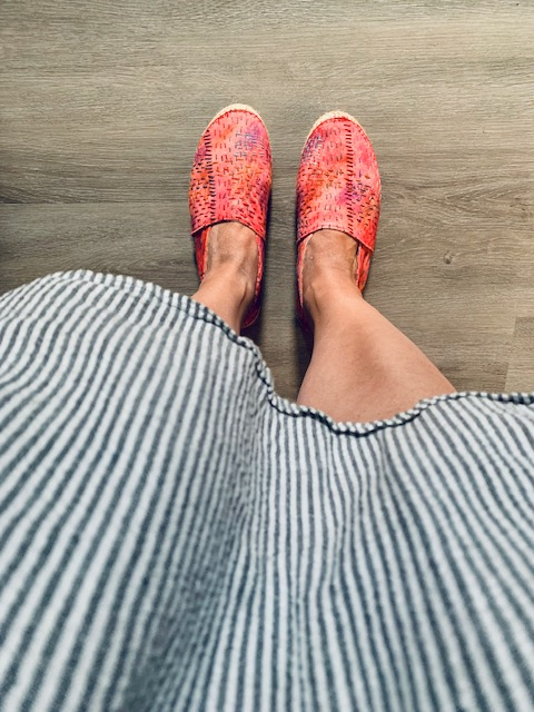 Watercolor and Hand-Stitched Espadrilles from Leilani Pierson of Studio Gypsy_A HAPPY STITCH_The Espadrilles Kit