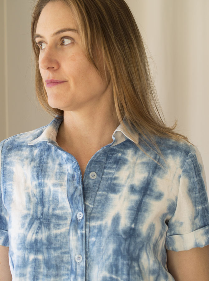 The Amherst Shirt from Hey June Handmade _ sewn by Melissa from A HAPPY STITCH