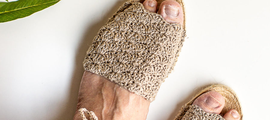 Artist Series : Shell Stitch Crochet Espadrilles from Flax and Twine