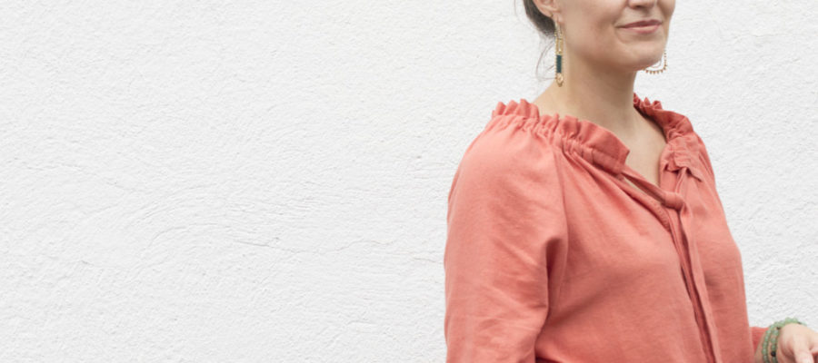 Hand-sewing :: Wilder Top from Thimble and Snip