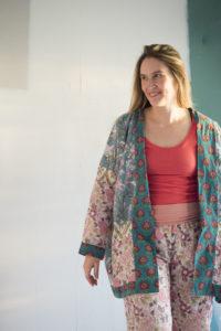 Block Print Loungewear Ensemble by Melissa Quaal of A HAPPY STITCH