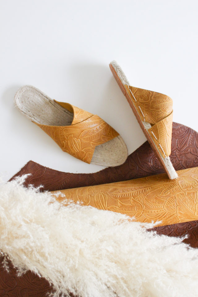 Leather Espadrille Sandals by Nikki and Mallory_Espadrilles Kit from A HAPPY STITCH