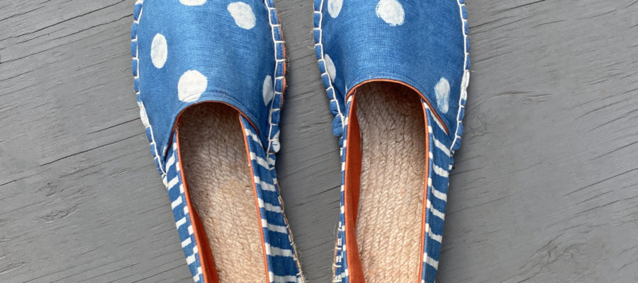 Artist Series :: Clay Resist and Indigo Dyed Espadrilles Kit from The Love of Colour
